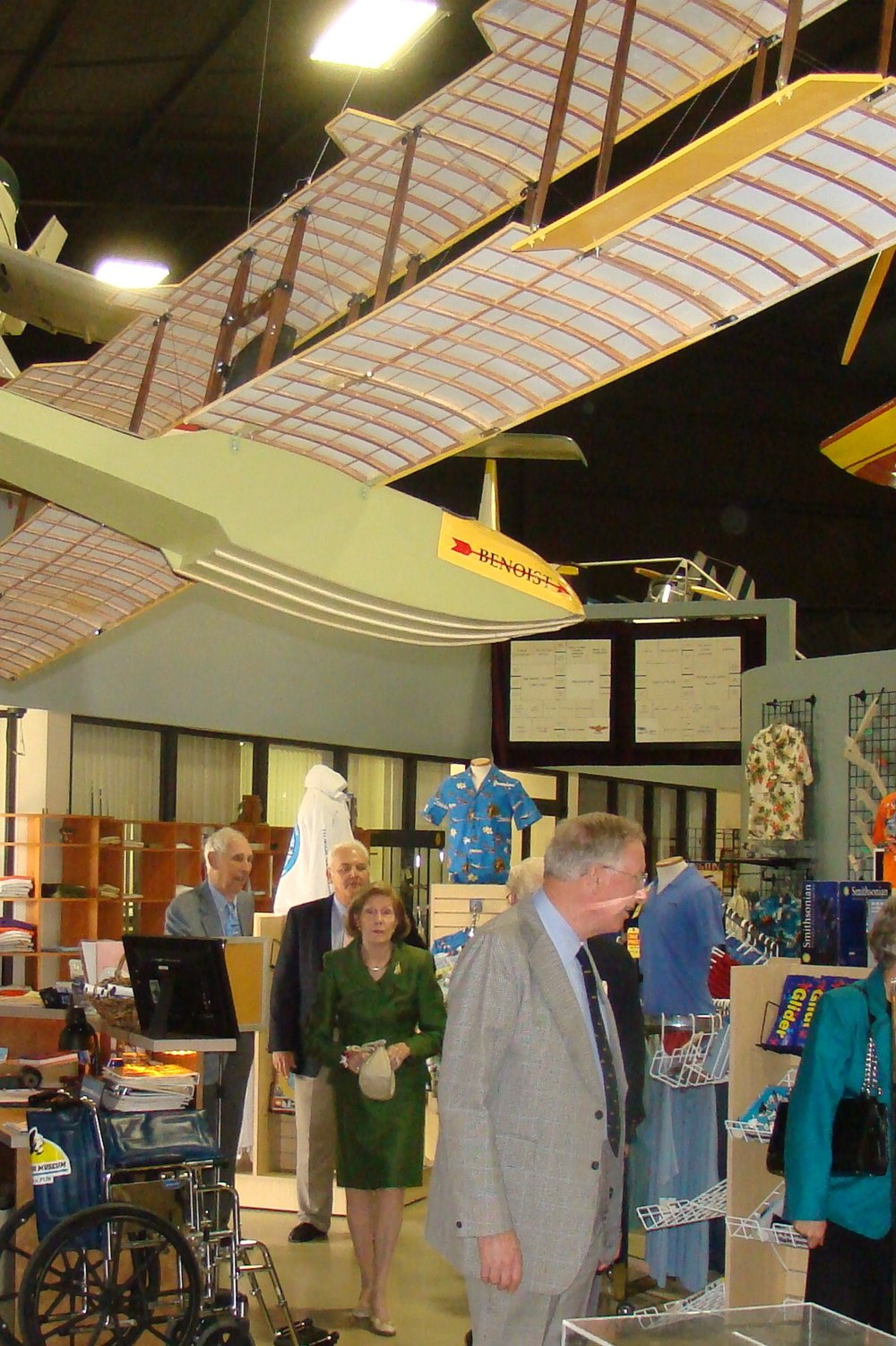 Florida Air Museum, Bill & Dottie Krusen entering, 28 Jan '12.JPG