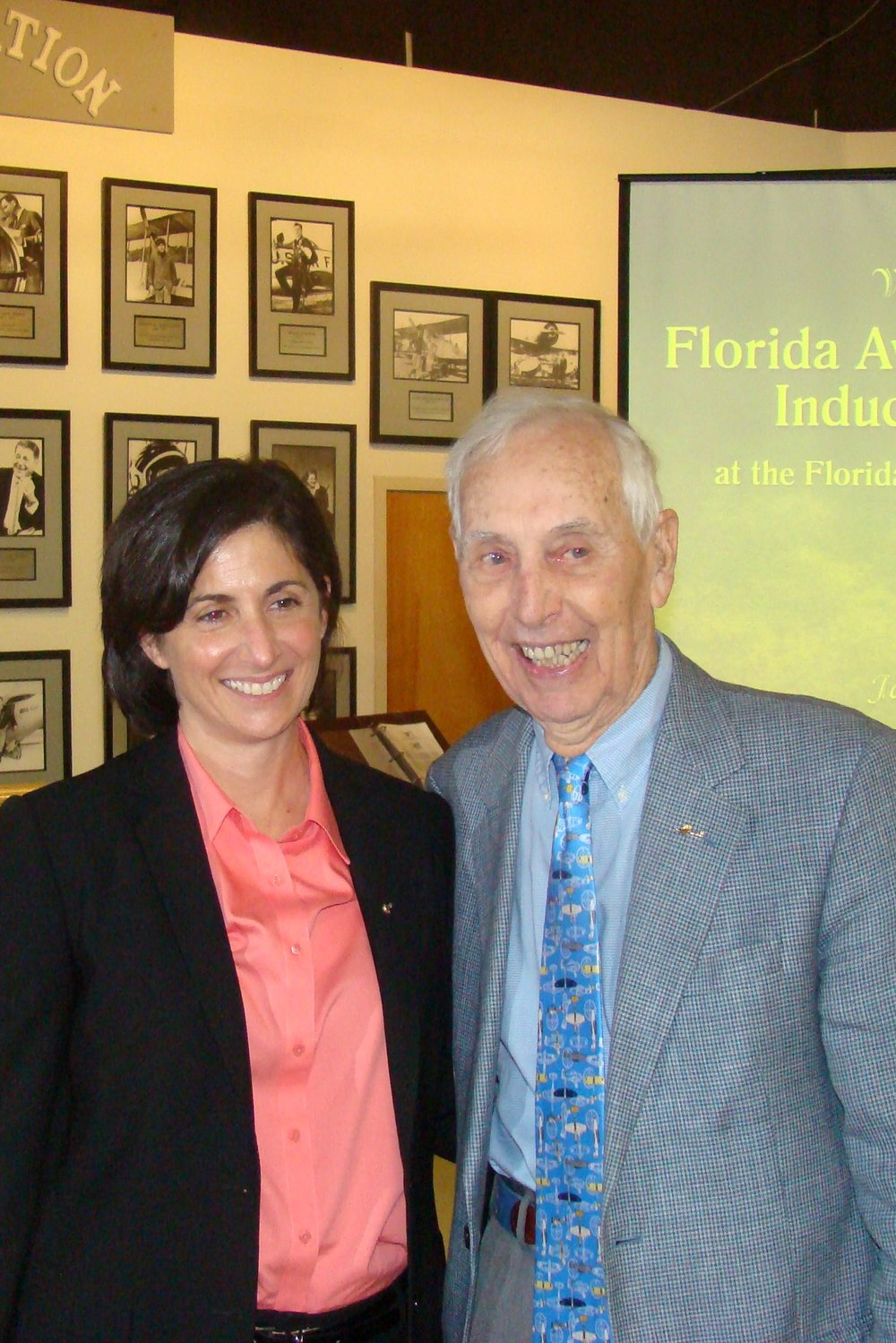 Nicloe Stott and Bill Krusen, Inductees in FAHOF, 28 Jan '12.JPG