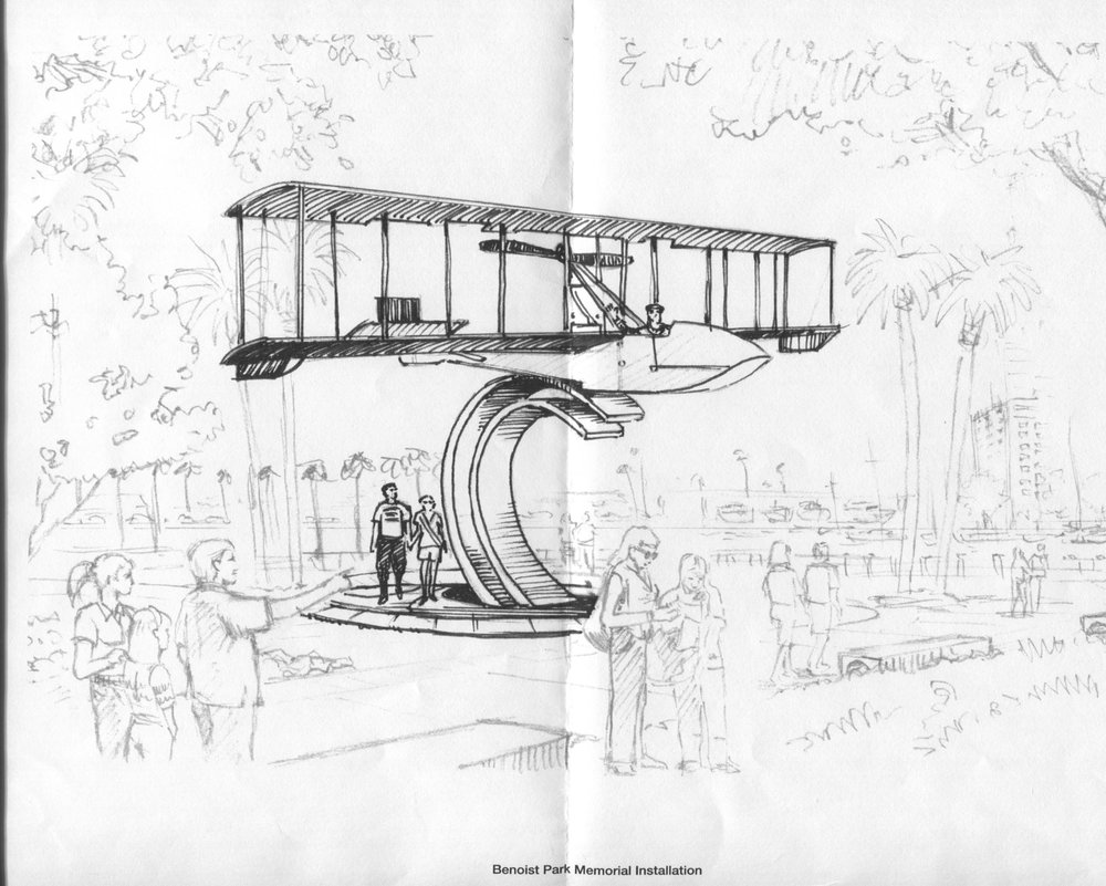 Benoist Air Boat Memorial Artist's sketch, 7 Jul '16.jpg