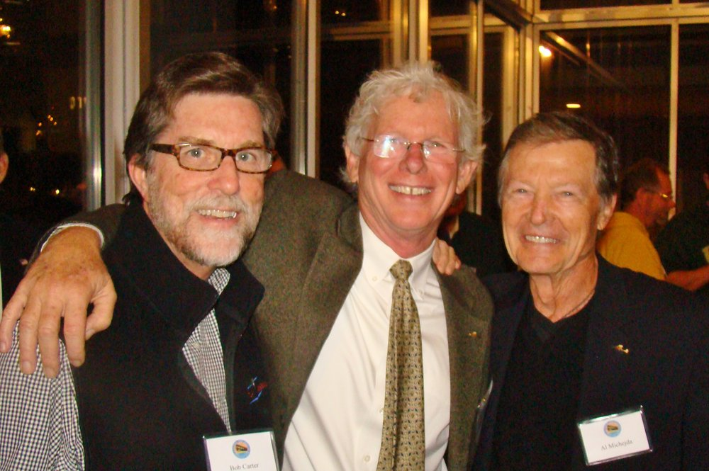 Bob Carter, Eddie Hoffman & Al Michejda @ First Night-First Flight Celebration, 31 Dec '13.JPG