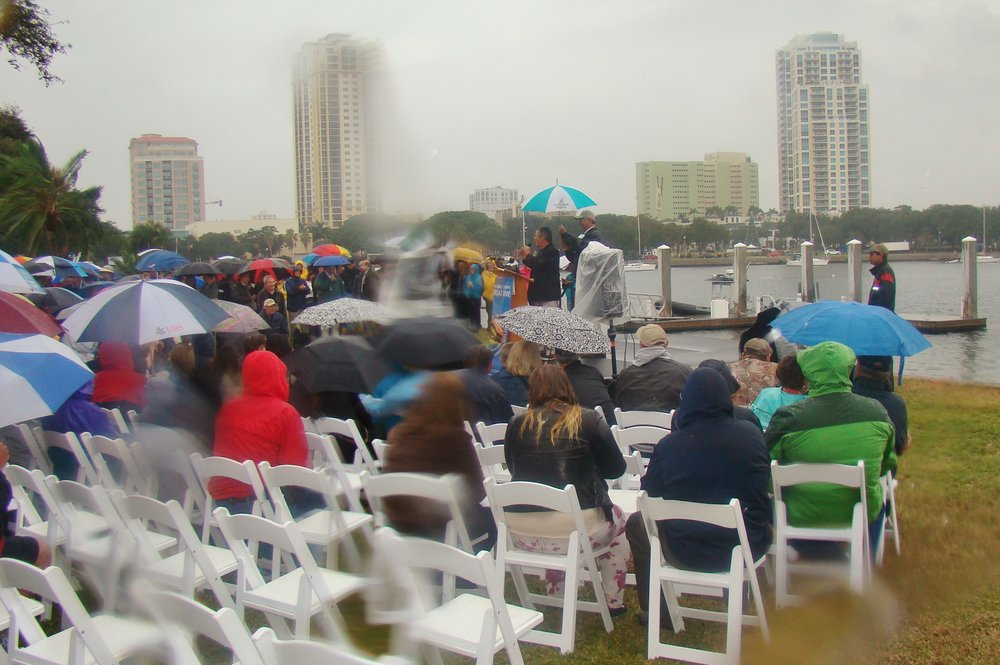 Centennial crowd thru rain covered lens, 1 Jan '14.JPG
