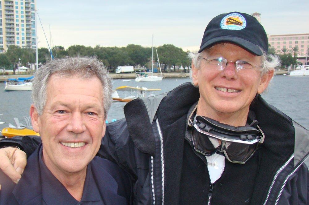 Frank Robertson & Eddie Hoffman with Mullet Skiff - 1, 1 Jan '14.JPG
