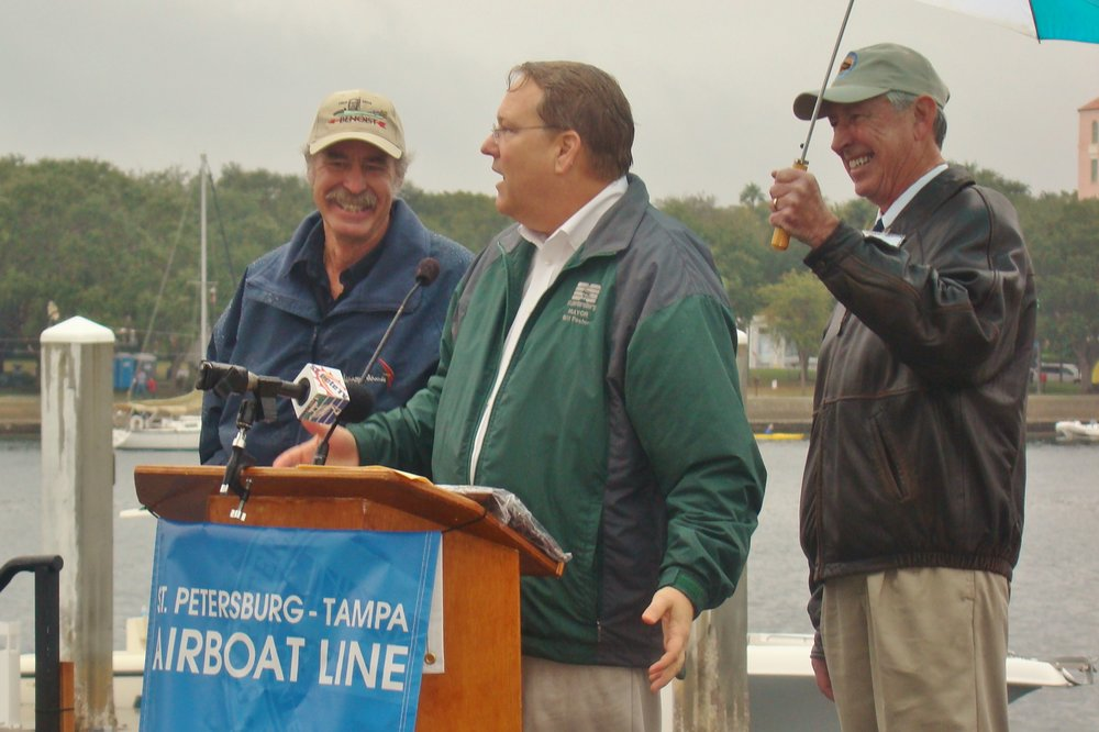 Kermit Weeks, Mayor BIll Forster & Will Michaels - 1, 1 Jan '14.JPG