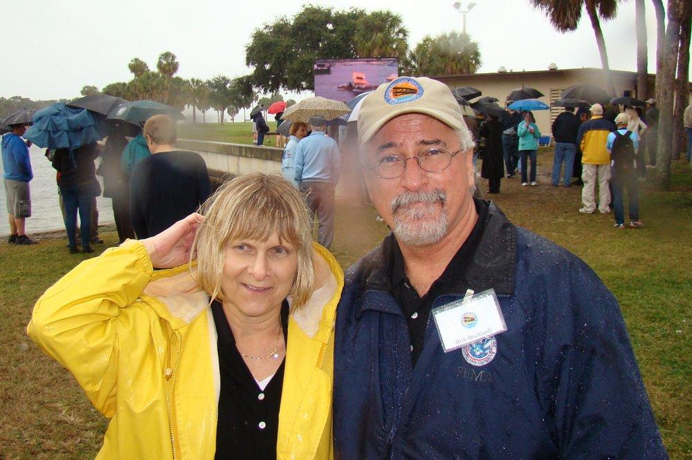 Terri Griner, Britt Bochiardy & Rain Drop, 1 Jan '14.JPG