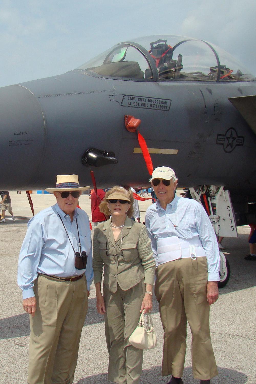 Emmett Lee, Dottie & Bill Krusen by F-15 -1, 27 Mar '09.jpg