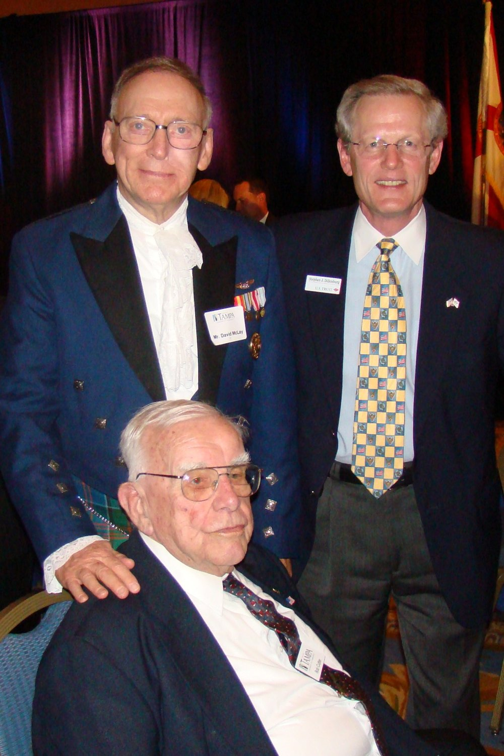 David McLay & Steve Dillenburg with Bob Cutler, 16 Feb '10.JPG