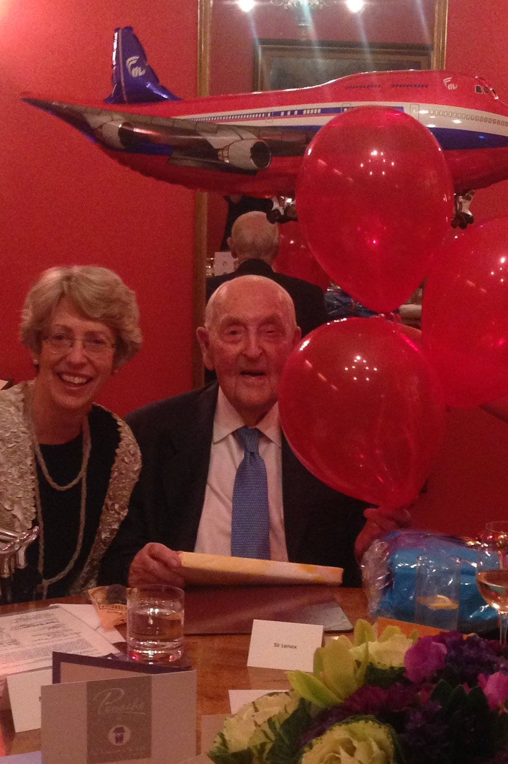 Len & Patricia at 99th Birthday Dinner, 7 May '16.JPG