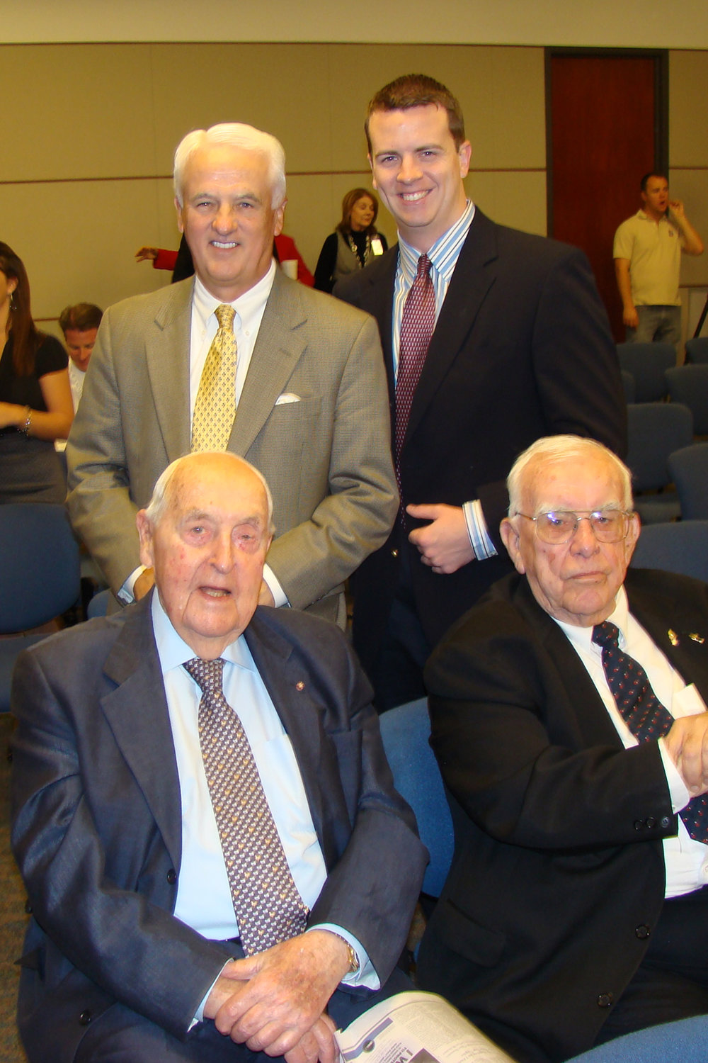 Sir Lennox Hewitt, Bob Cutler; & John & Jack O'Connor, 30 Oct '08.jpg