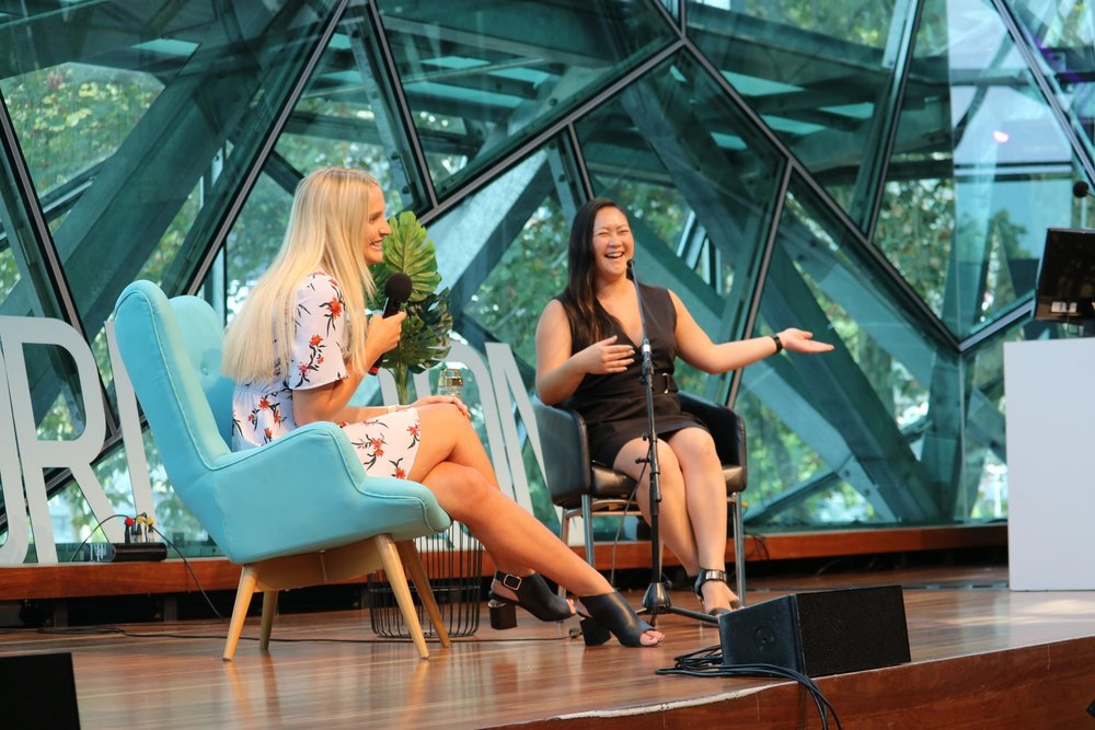 - Fireside chat with Instagram Queen, Gretta Van Reil, at The League of Extraordinary Women's