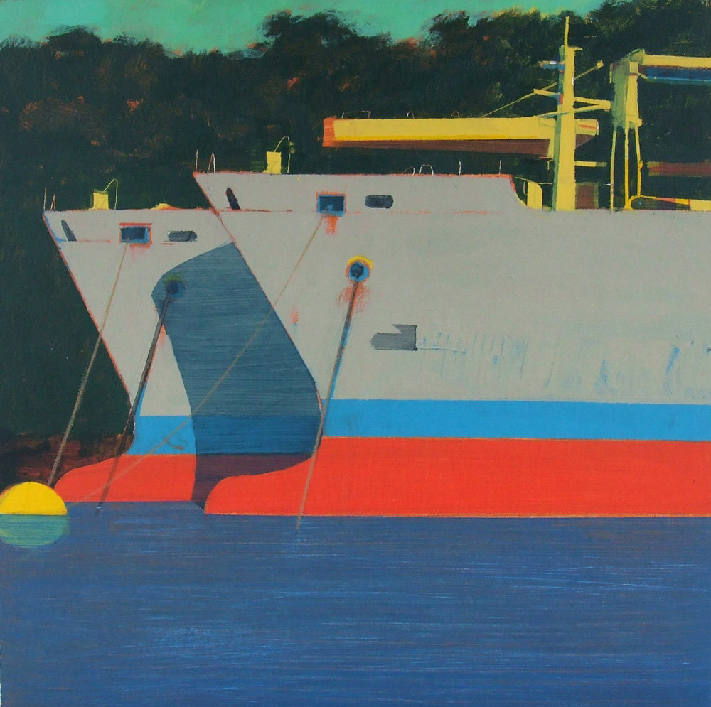 Ships near King Harry Ferry