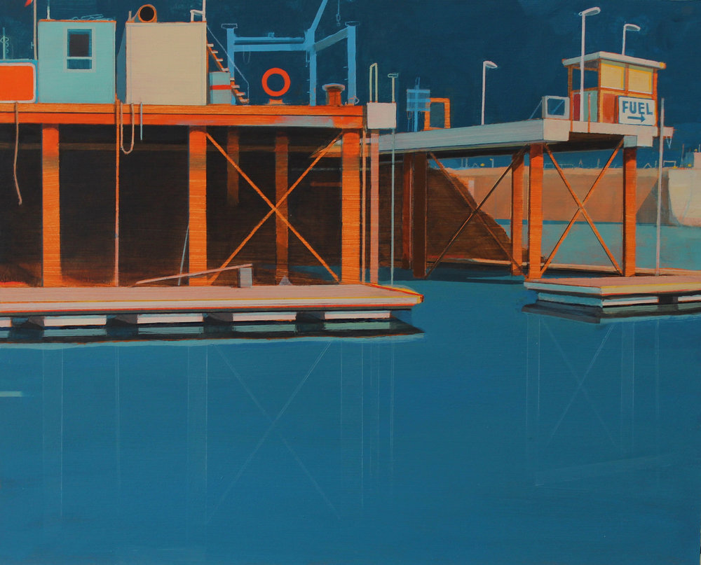 Dockyard, Plymouth, acrylic on board, 36x45 cm, £sold.