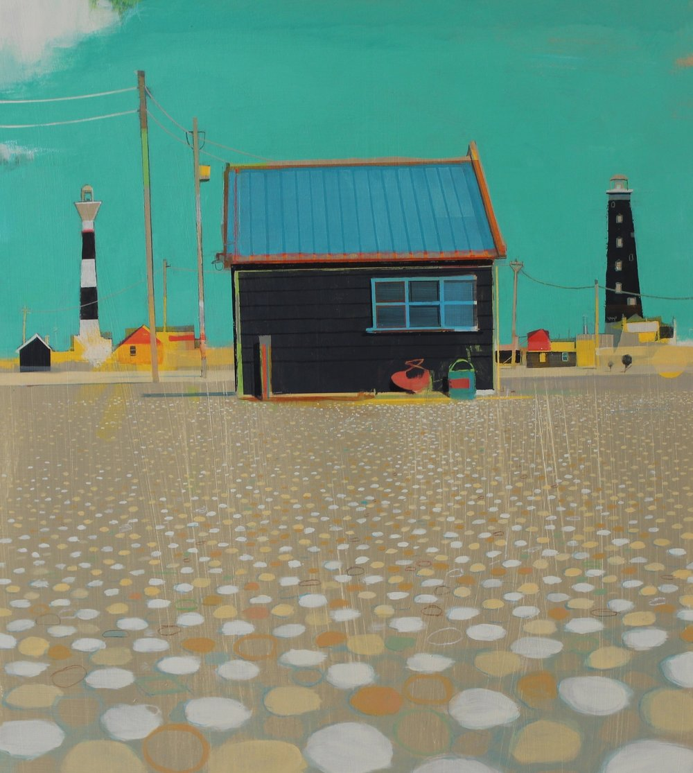 Dungeness, 45x51.5 cm, acrylic on board, £sold.