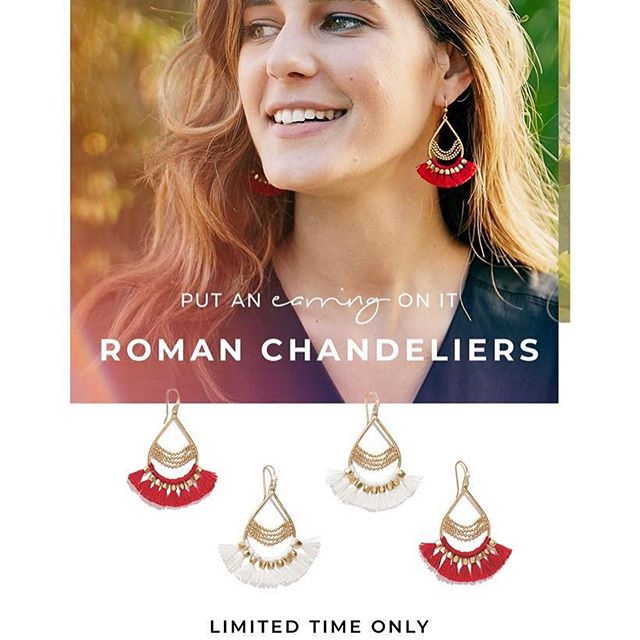 Too good not to share - this weekend offer is 🔥🔥🔥! Now through 4/16, when you spend $100, you can snag the summer must-have Roman Chandlier earrings in either white or red for only $9.99! Which ones would you choose? ❤️ Shopping link ☝🏻in profile.