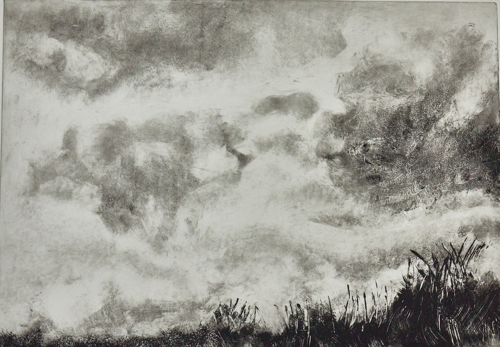 Wrapped in Clouds 940 - Solar plate etching print on Hahnemuhle paper22.5
