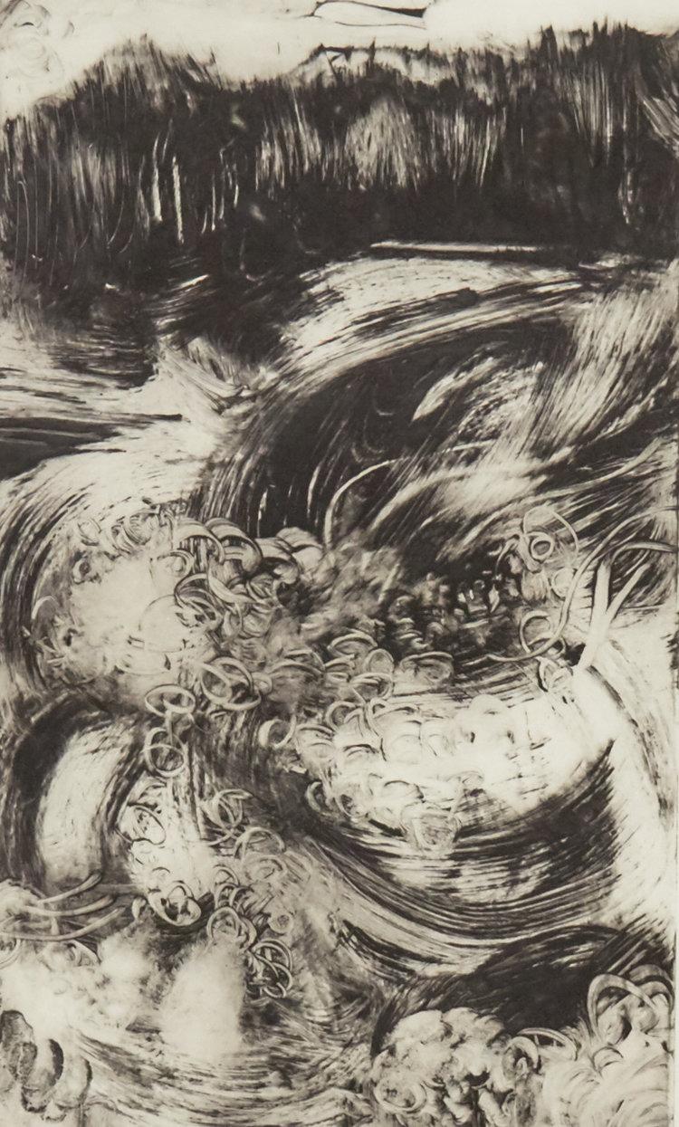 Raging Niagara 943 - Solar plate etching print on Hahnemuhle paper17