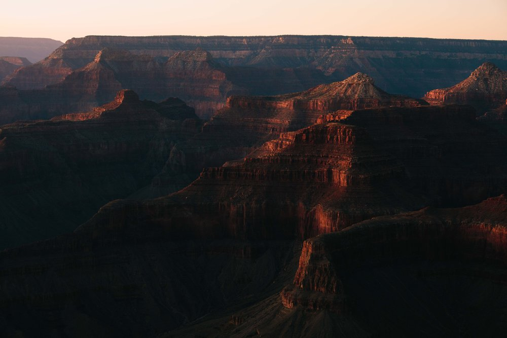 The Grand Canyon at dusk