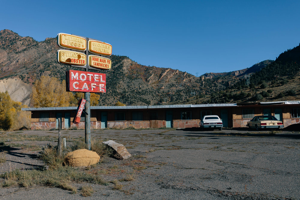 Abandoned motel on the road to Gunnison