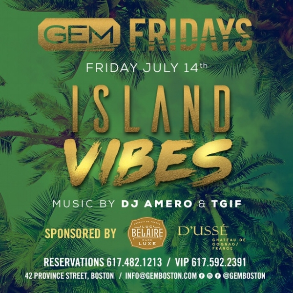 Friday, July 14th our Sell Out Monthly Party, Island Vibes, Returns! Proper Dress is a must and early arrival is HIGHLY Recommended!   Music By : DJ Amero & Notable Bent Friday DJ, DJ TGIF Playing the latest in your favorite International Mixes ( Reggae, Soca, Reggaeton, Afro Tunes & Pasada) alongside your favorite Hip Hop Hits! LIMITED LADIES FREE Tickets & Table Specials Compliments of D'uss'e & Belaire Luxe Below! LETS GET BENT!