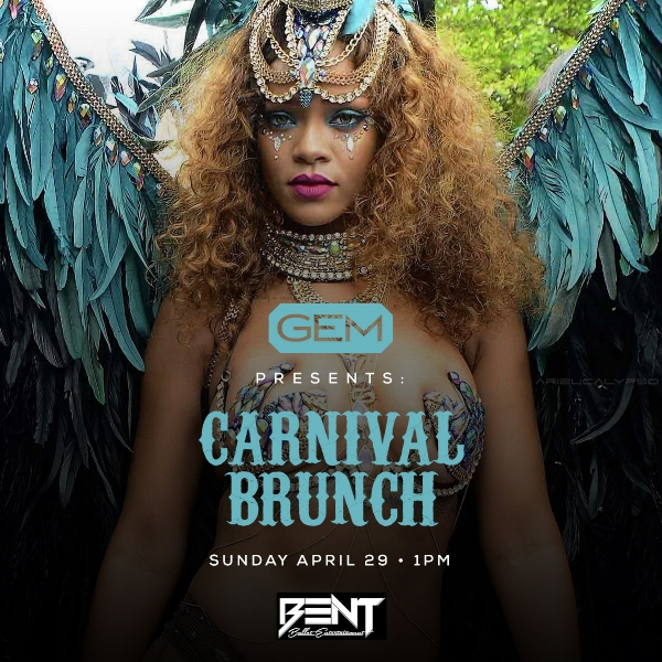 Carnival in Boston just arrived early! This exclusive themed brunch will bring island vibes to Gem and feature some of the best Caribbean music to date. Early RSVP is highly reccomended !!!