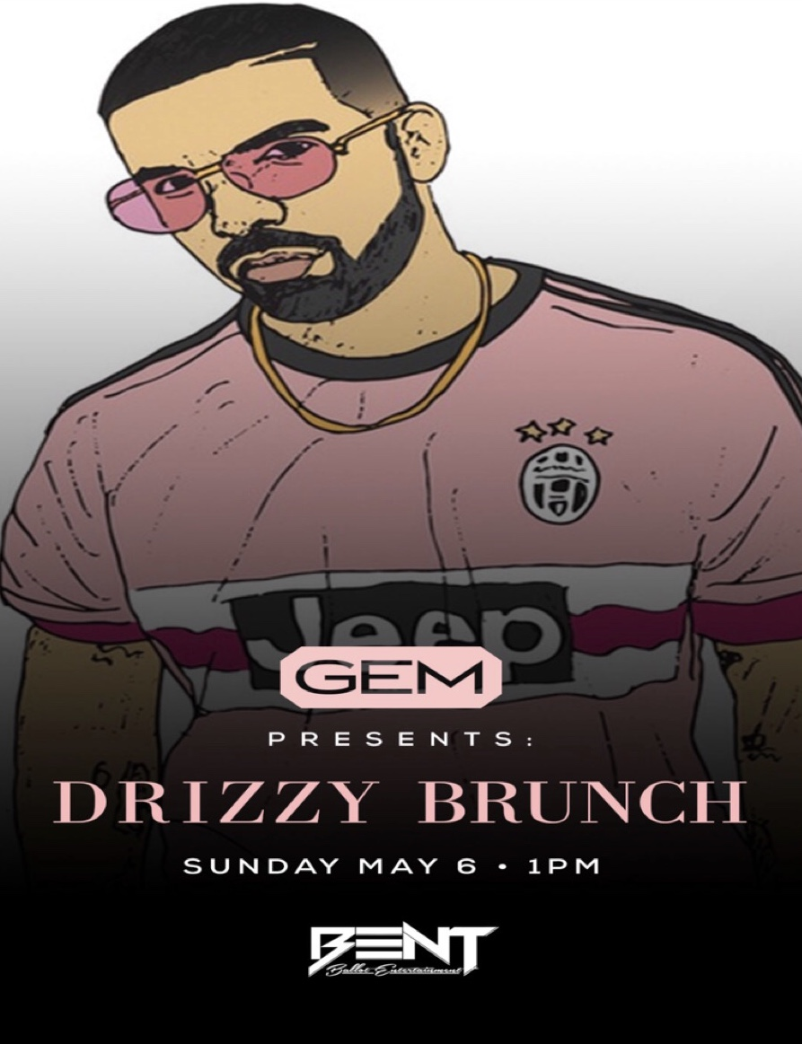 "From his  ""So Far Gone "" mixtape released in 2009 to ""More Life"" in 2017, Drake is without a doubt one of the greatest artist of this generation. We will be paying homage to him and his musical journey during this exclusive brunch party!    Gem Lounge  42 Province Street Boston, MA   DJ Real P, DJ TGIF & DJ Coroking  HIP HOP. TOP 40. INTERNATIONAL     Brunch Reservation Slots:  1pm & 3pm.(Day Party Begins at 5pm)  For Limited Brunch Reservations & VIP: 781.408.0612"