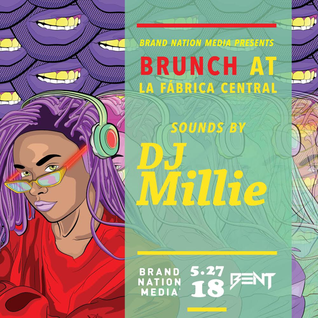 This Sunday join us for an exclusive Brunch & Day Party in collaboration w/ Brand Nation Media. Hookah will be available on the patio if the weather permits it!   La Fabrica Central  450 Massachusetts Avenue Cambridge, MA   DJ Millie  HIP HOP. TOP 40. LATIN. INTERNATIONAL    For Limited Brunch Reservations (11am, 1pm or 3pm) & VIP: 781.408.0612