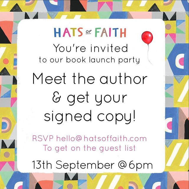 Join us for the exclusive event to celebrate the launch of Hats of Faith, the world's first mainstream children's board book about the shared custom of faith-based head coverings. Meet the author, get your copy signed and peruse our new range of children's items! 🎈 Please RSVP @hatsoffaith_ or info@zapshopart.com #launchparty #zapshop