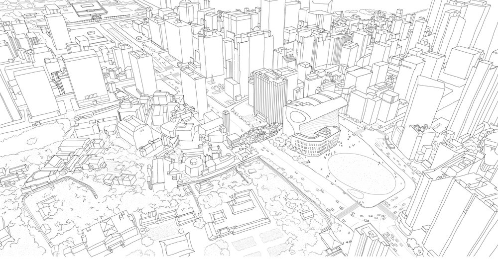 Seoul Masterplan Sketch - Garden Bridge Submittal - Prime Architecture