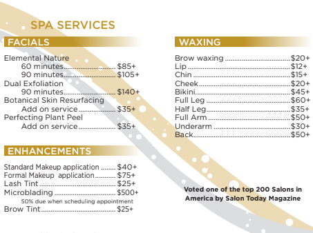 Interested in learning more about the spa services we offer? - Schedule a consultation!