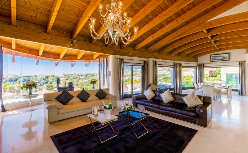 The sitting room, lounge area at Villa El Cano, DSV Collection, Marbella