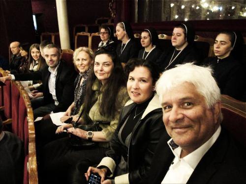 Das Projekt Team in der Oper von Lviv.