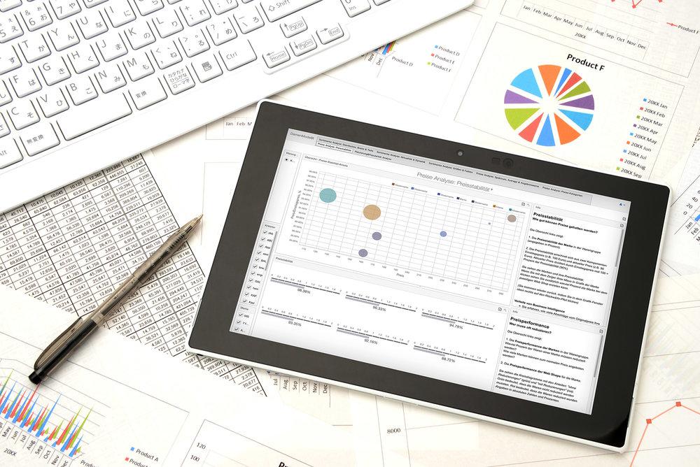 Das Programm - In den Dashboards sehen Sie die Zusammenfassung von Erkenntnissen und die Wettbewerbssituation auf einen Blick. > weiterlesen