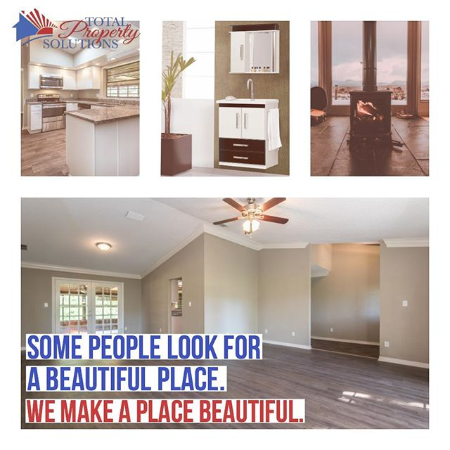 Some people look for a beautiful place. We make a place beautiful. . . Total Property Solutions, Enhancing assets, Improving communities . . #RealEstate #Renovations #HomeRenovations #GeneralContractor #Flooring #Residential #RenovationManagement #HomeImprovement #InvestmentProperty #REO #REOcontractor #TotalPropertySolutions #TotalPropertySolutionsLLC