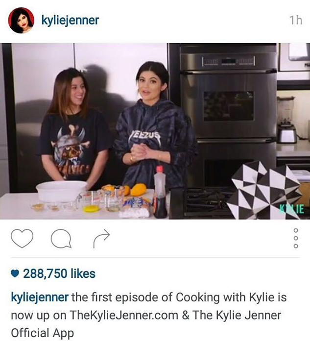 COOKING WITH KYLIE  | KYLIE JENNER APP