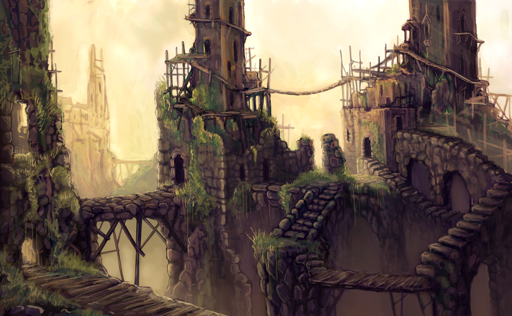 Crumbling Towers Landscape