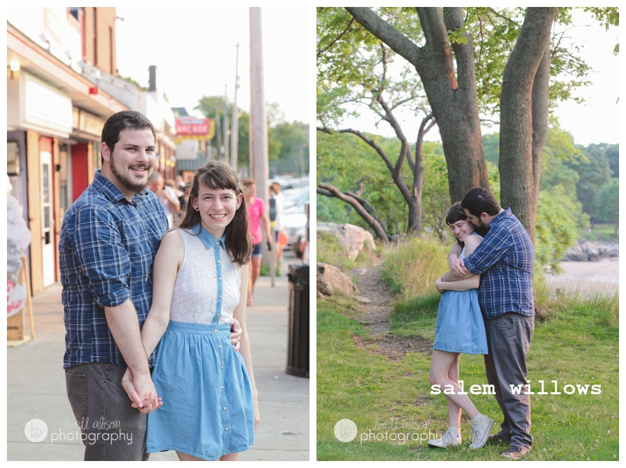 salem willows engagement session