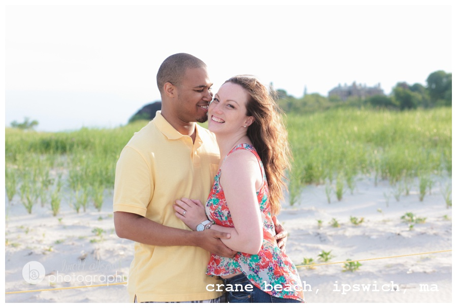 beach engagement portrait location near boston