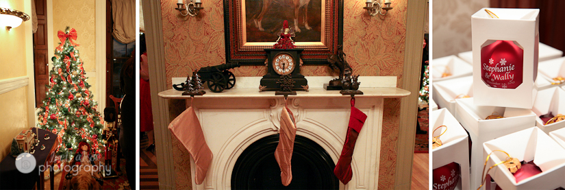 christmas display at commanders mansion wedding
