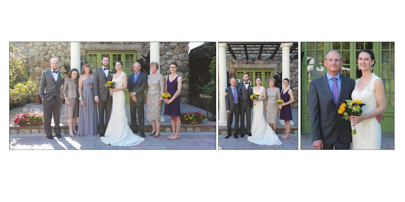 family photos at willowdale wedding