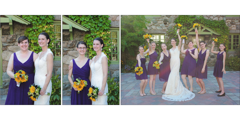 bridesmaids wedding photos topsfield mass