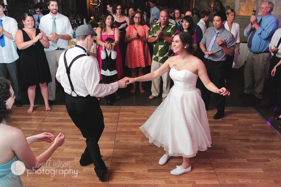 dancing swing dance at wedding