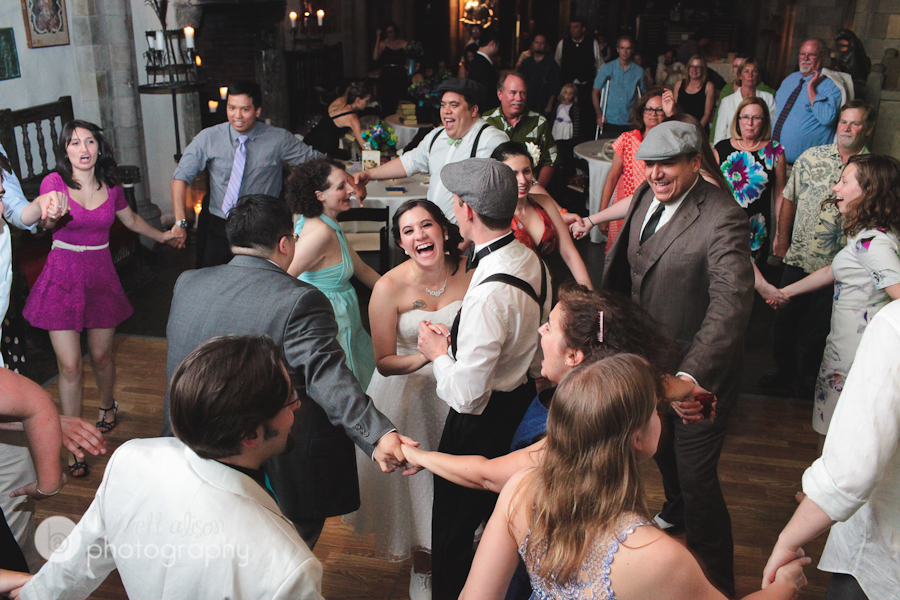 wedding reception photos at hammond castle gloucester