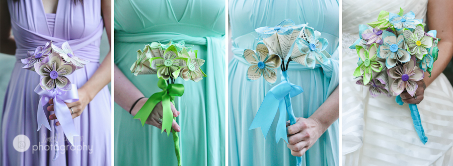 diy paper flower wedding bouquets