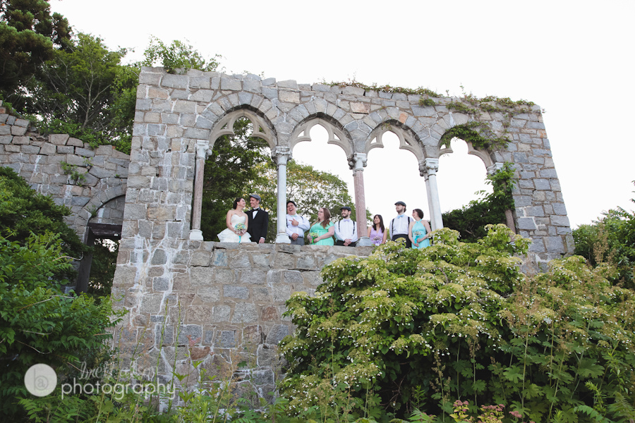 hammond castle arches wedding photos
