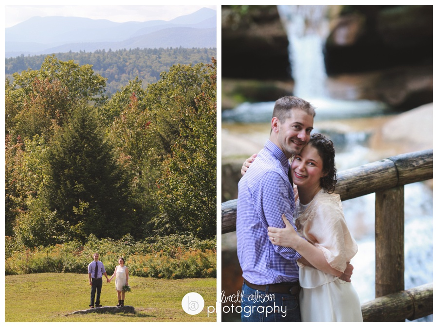 This was so much fun! Ryan and Abby eloped at Sabbaday Falls, NH