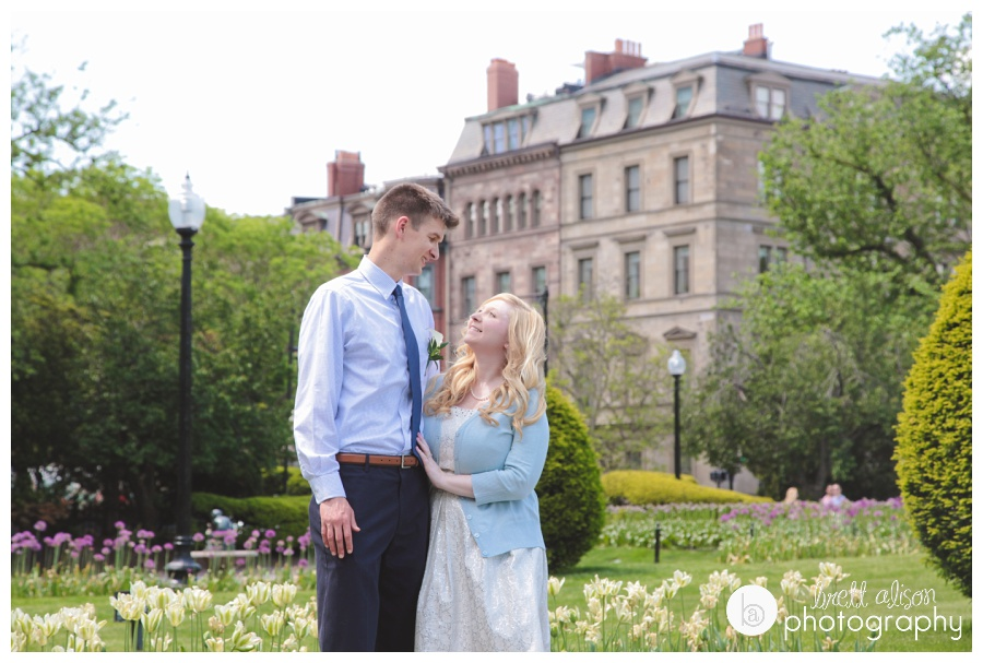 We were able to capture the beauty of the Public Garden in the spring before Andrew and Kaitlin's wedding at Boston City Hall