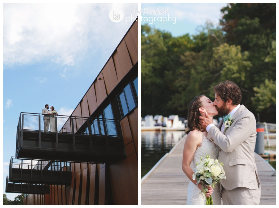 Carolyn and Nico got married outside on the pier at the Harry Parker Boathouse in Cambridge, MA - only fitting since they are both sailors!