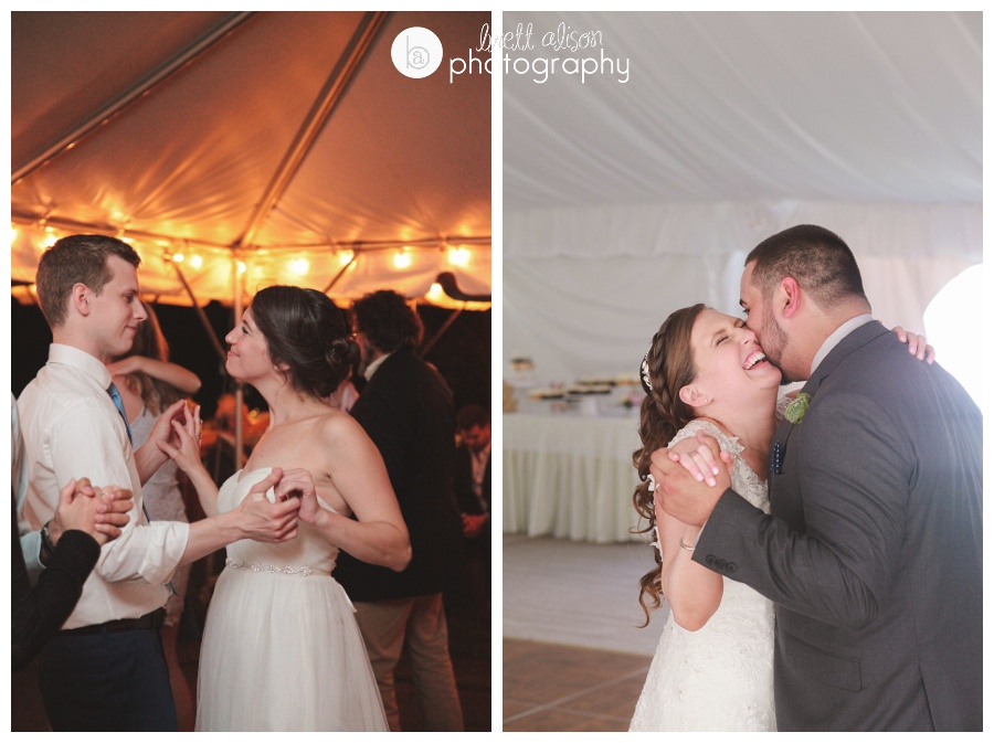 I always find some great moments during the first dance.
