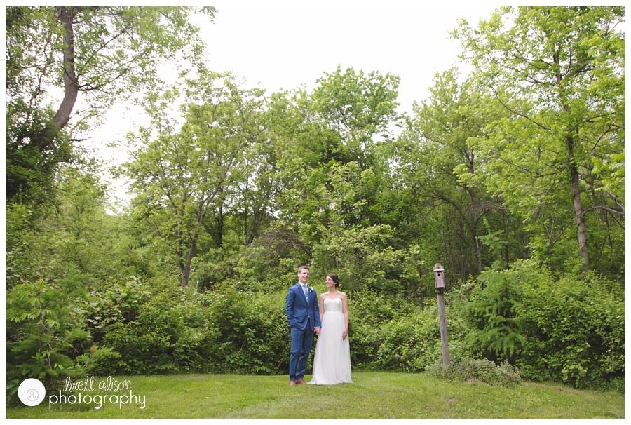 summer backyard wedding rustic