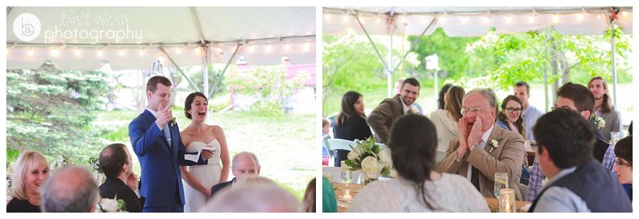 fun backyard wedding