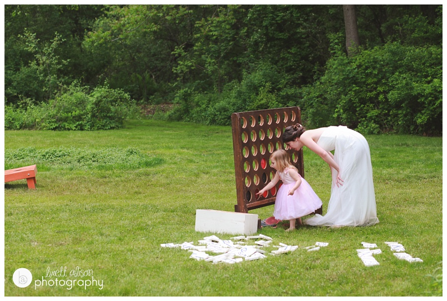 Backyard Wedding Games kate & geoff || massachusetts backyard wedding
